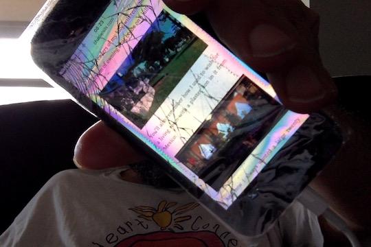 Image of broken iPhone